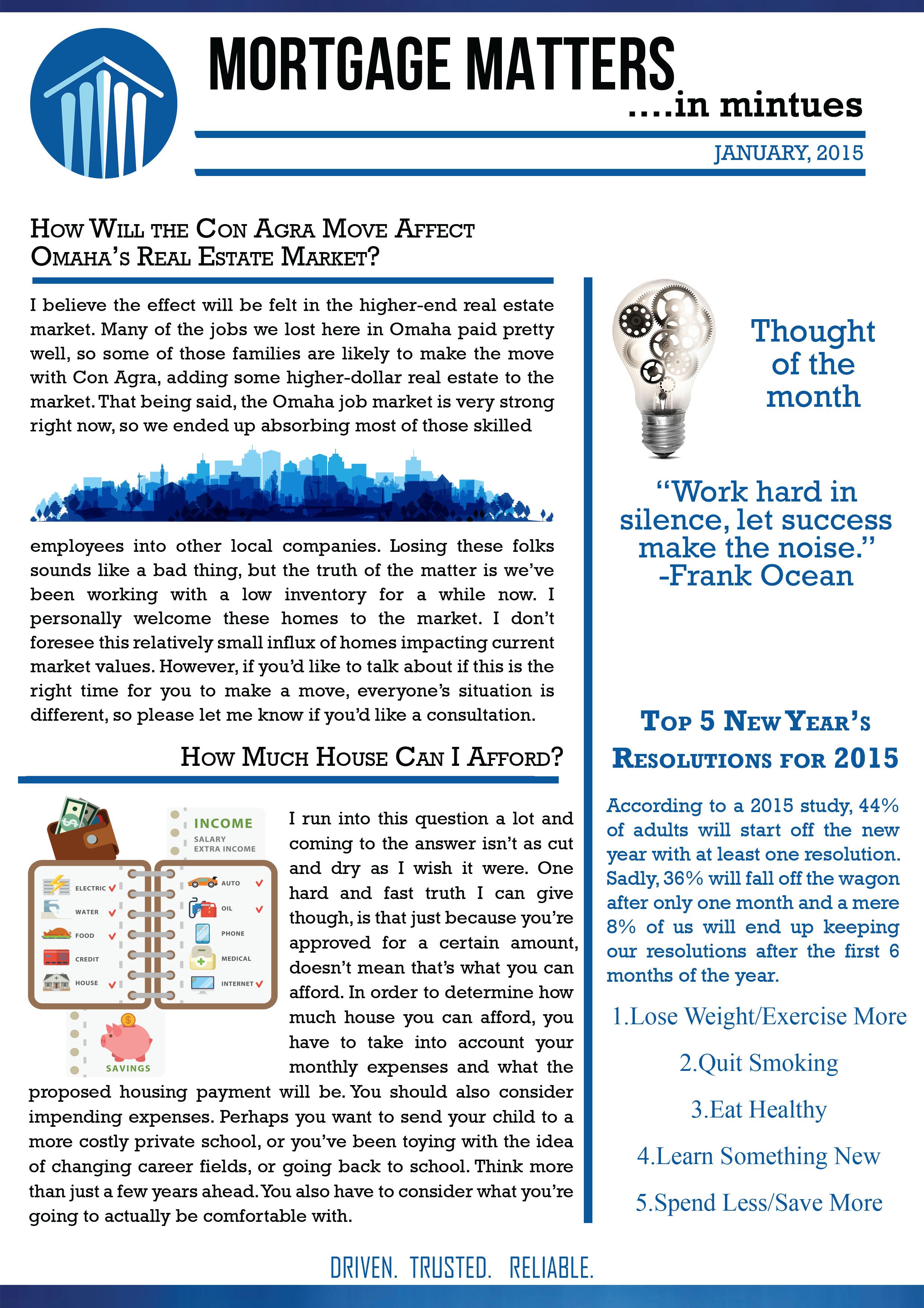 Jan Newsletter Inside